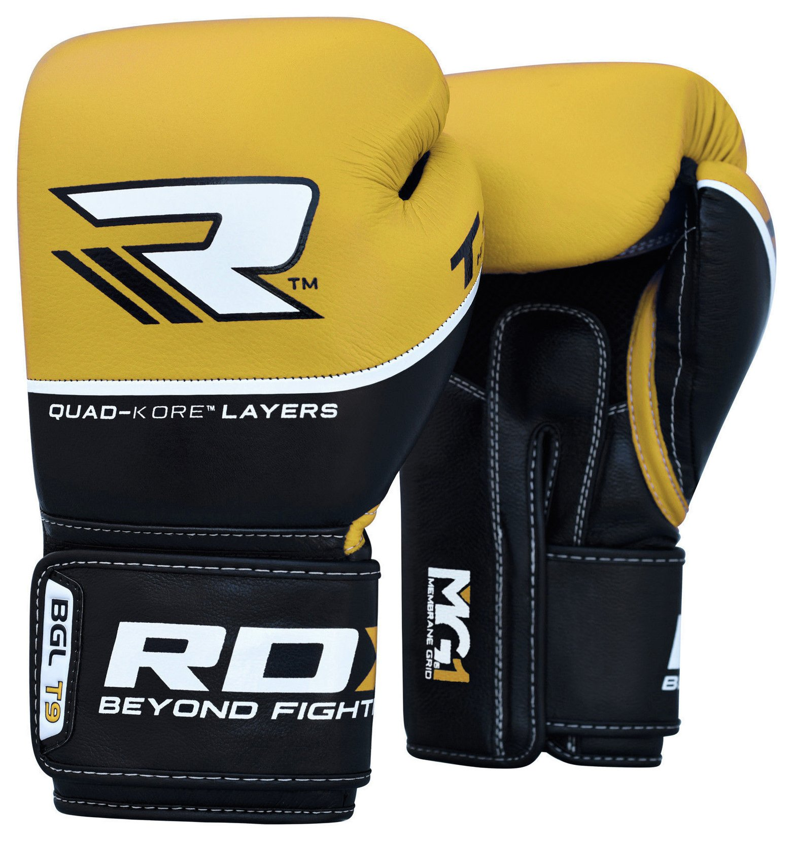 RDX - Quad Kore 14oz Boxing Gloves - Yellow lowest price
