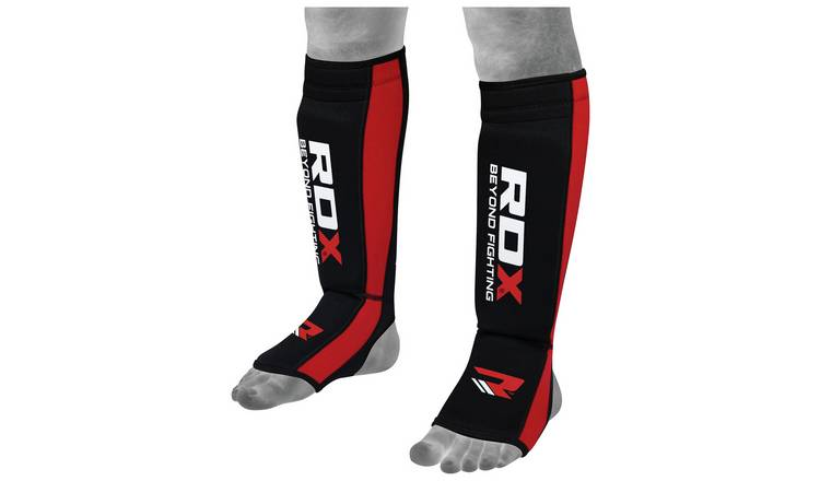 RDX Neoprene Large to Extra Large Shin Instep - Red.