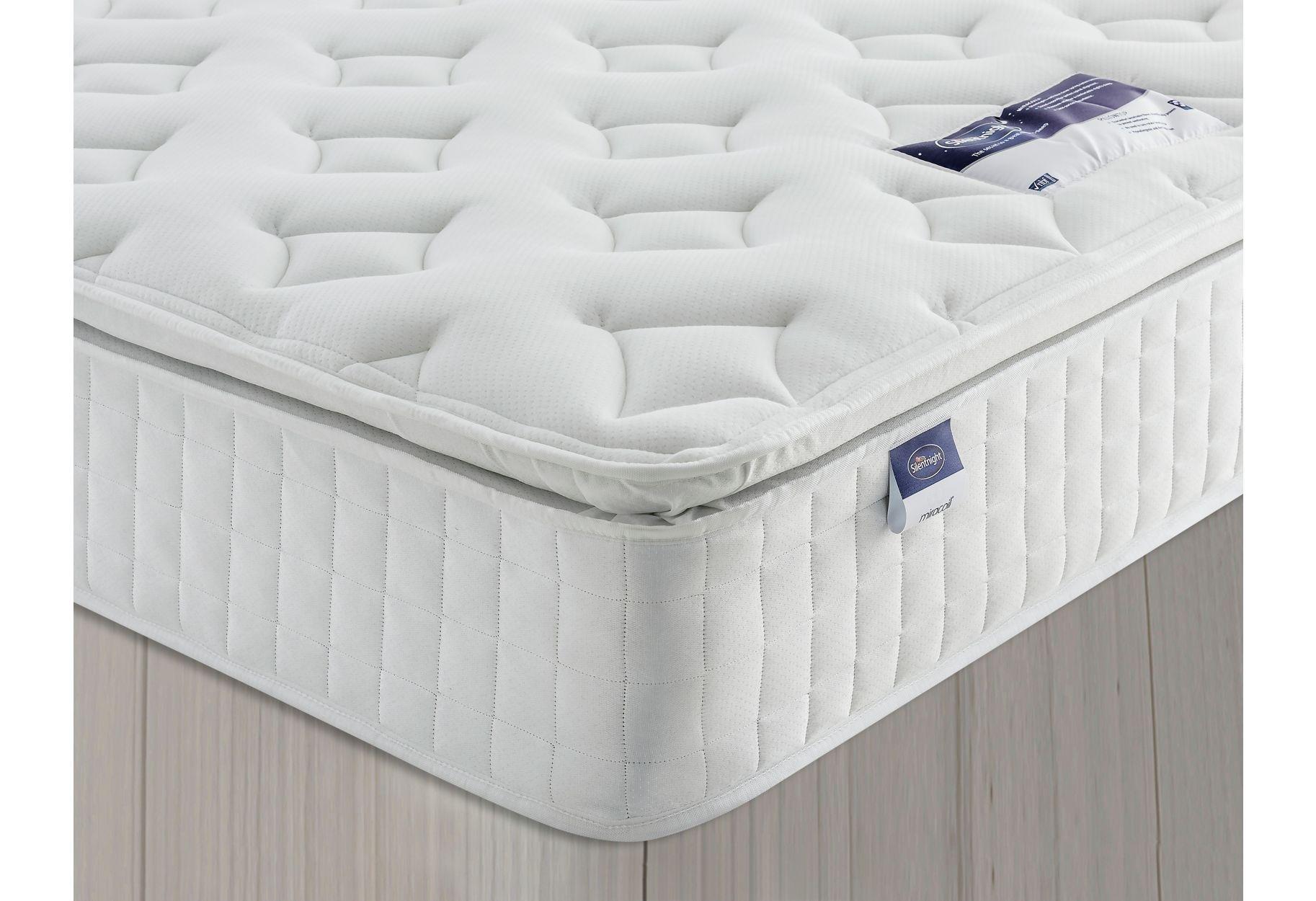 silentnight stanfield sprung pillowtop double mattress