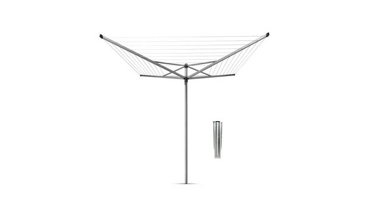 Brabantia 50m Topspinner Washing Line with Ground Spike