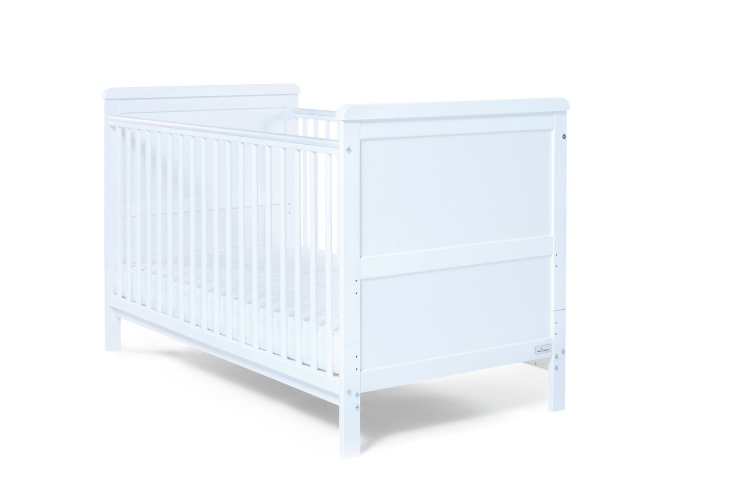 baby elegance alex cot bed with mattress - white (5175071) | argos