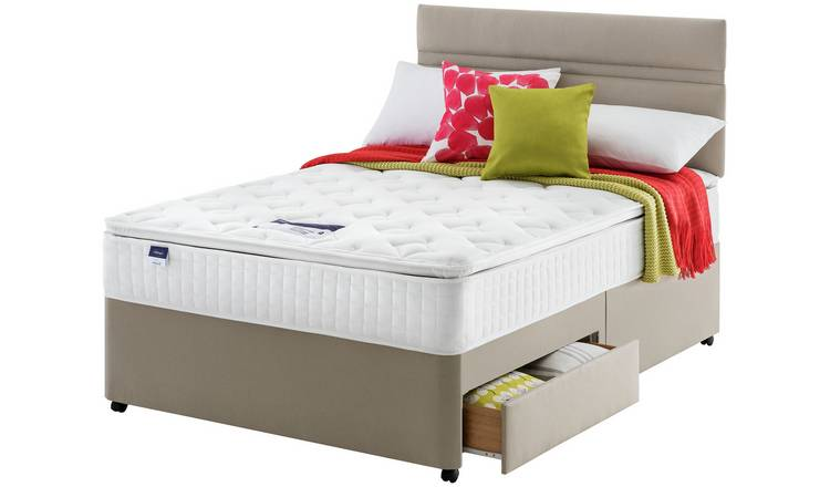 Silentnight Stanfield Pillowtop 2 Drawer Divan - Kingsize