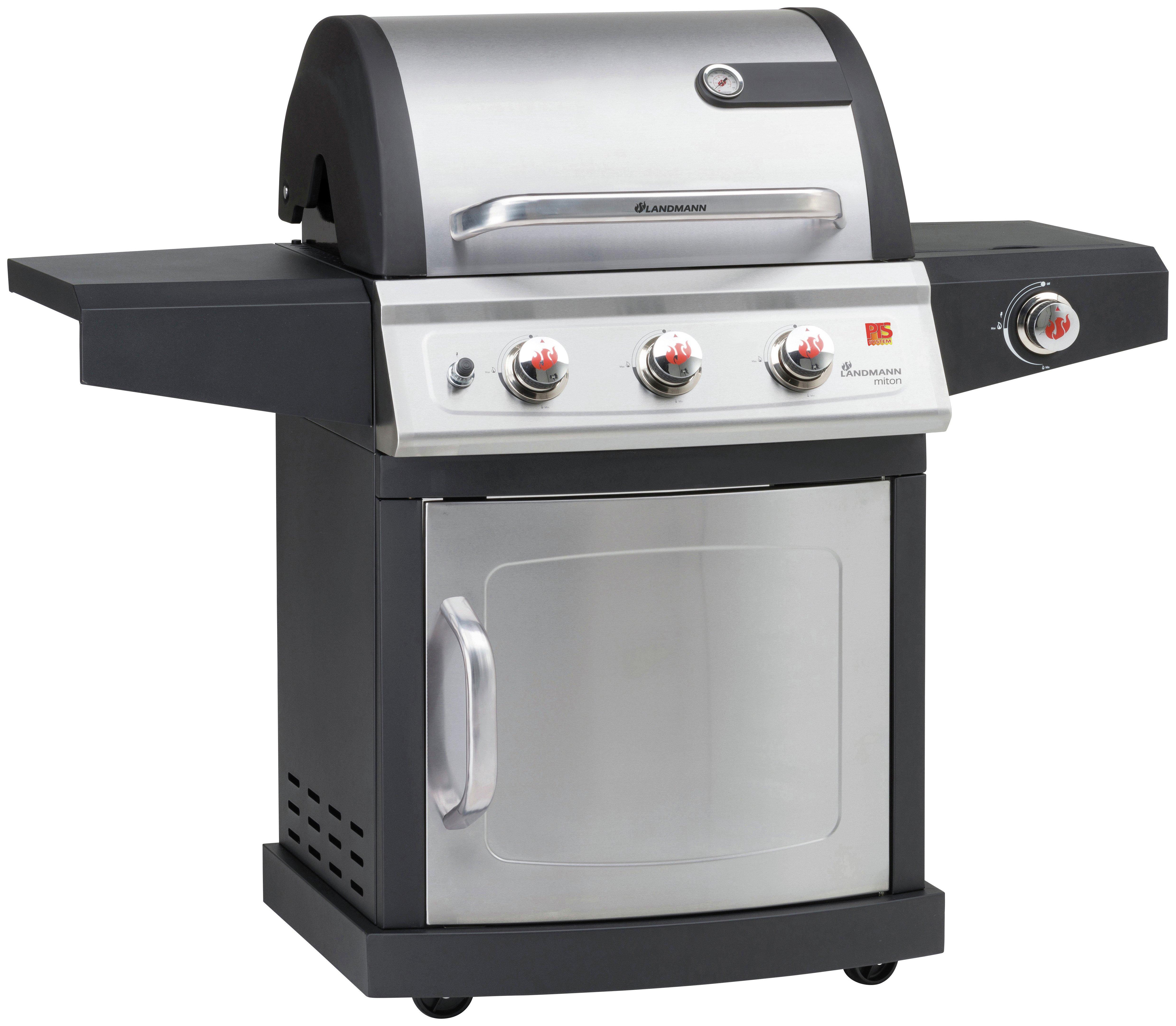 Landmann Miton 3 Burner Gas BBQ with Side Burner. lowest price
