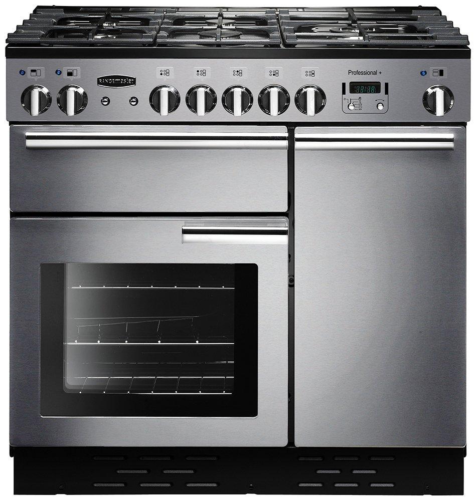 Rangemaster Professional 90cm Gas Range Cooker - S/Steel