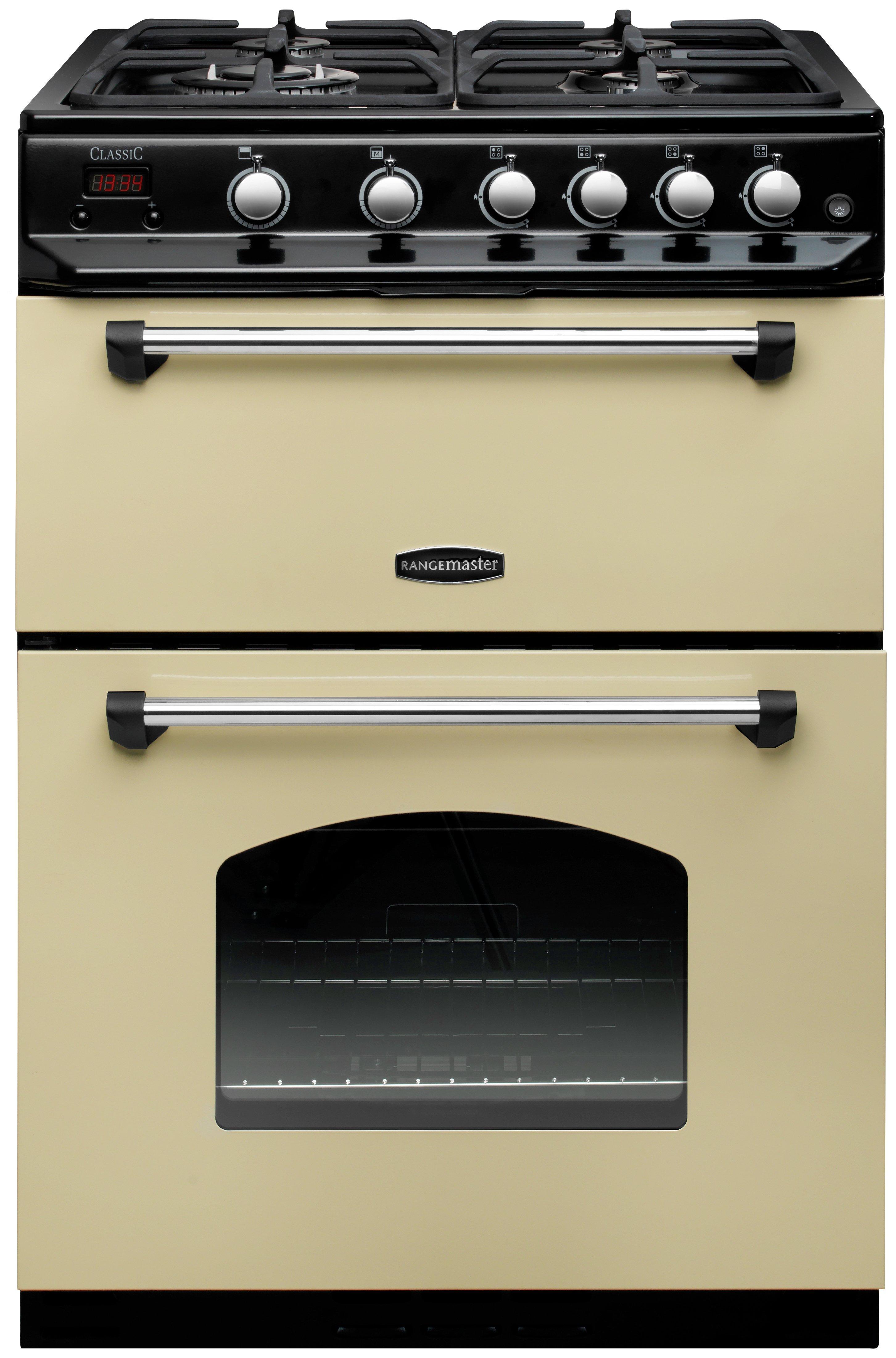 Rangemaster CLAS60NGFCR/C Classic Gas Cooker - Cream