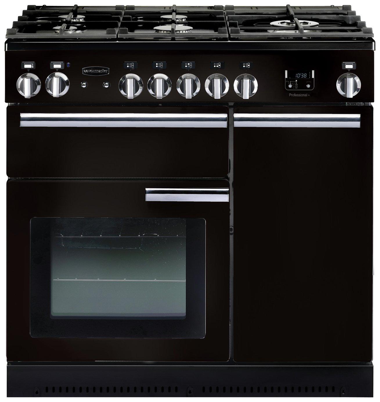 Rangemaster Professional 90cm Dual Fuel Range Cooker - Black
