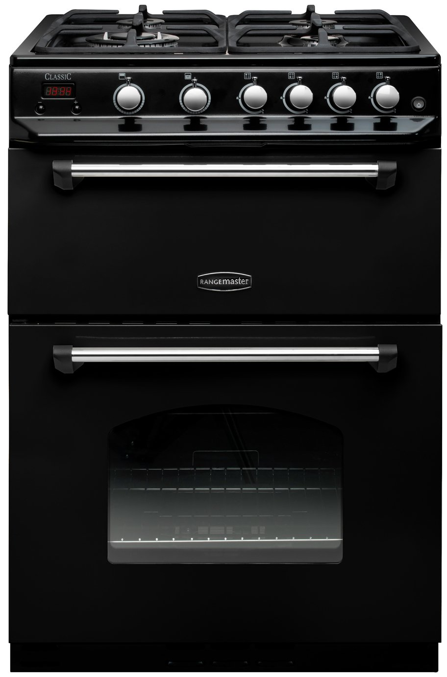Rangemaster CLAS60NGFBL/C Classic Gas Cooker - Black