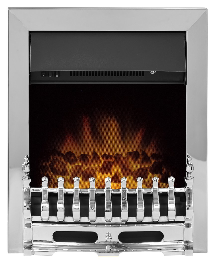 Image of Adam - Blenheim 2kW - Electric Inset Fire - Chrome