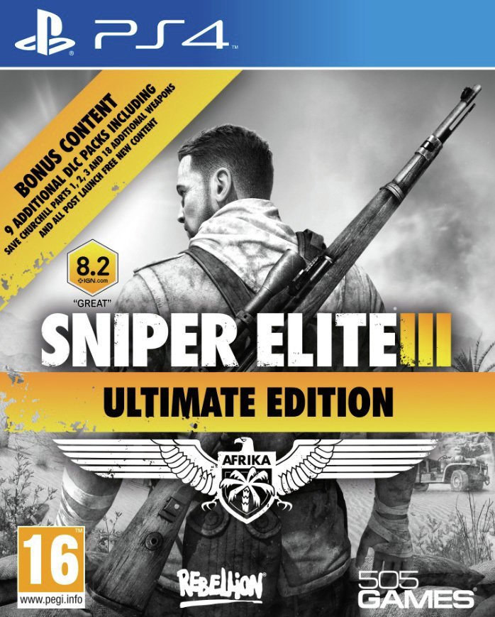 Ps4 Snipers Elite 3 Ultimate Edition - PS4 Game.