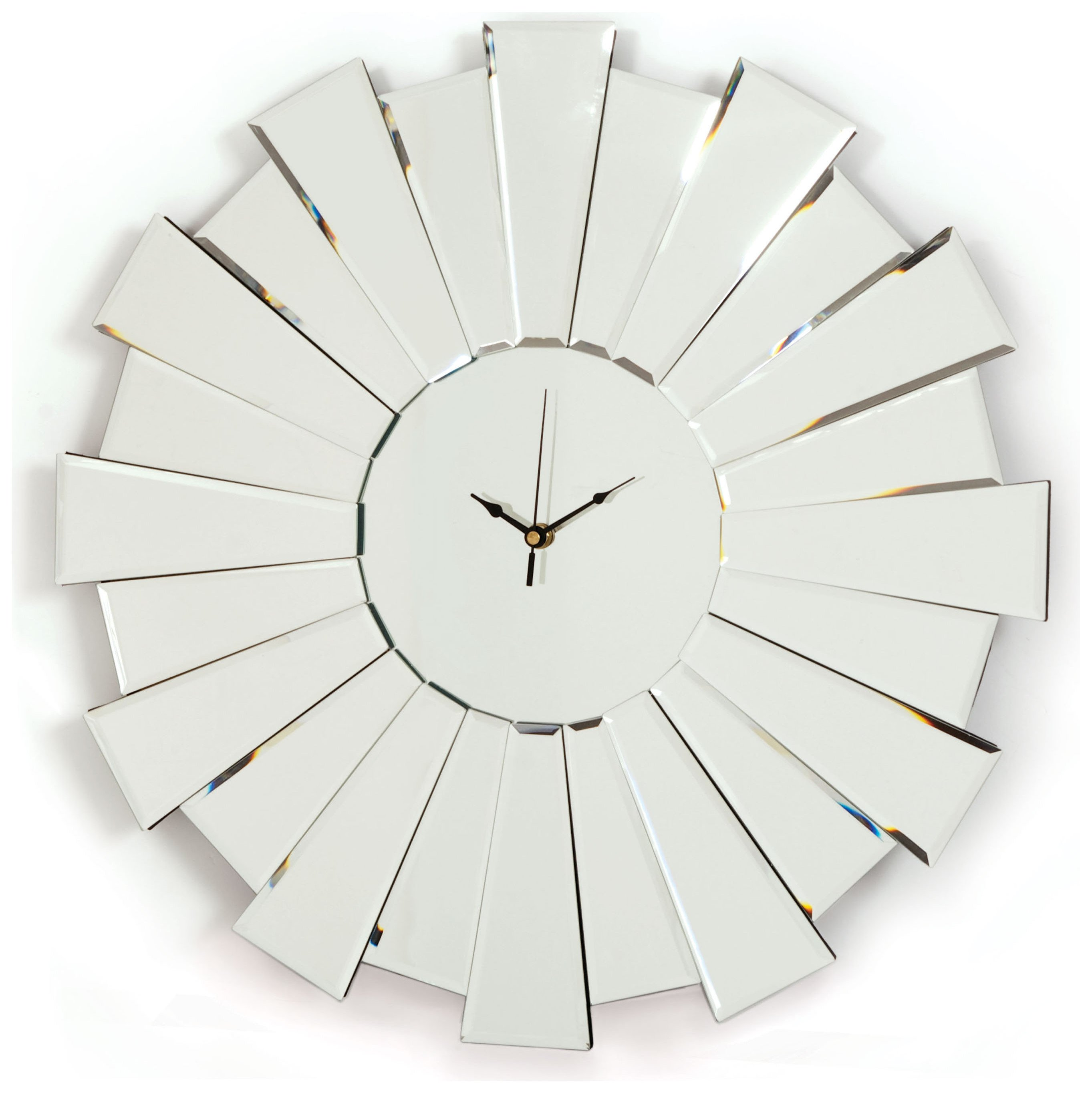 Sunburst Glass Mirror Clock.