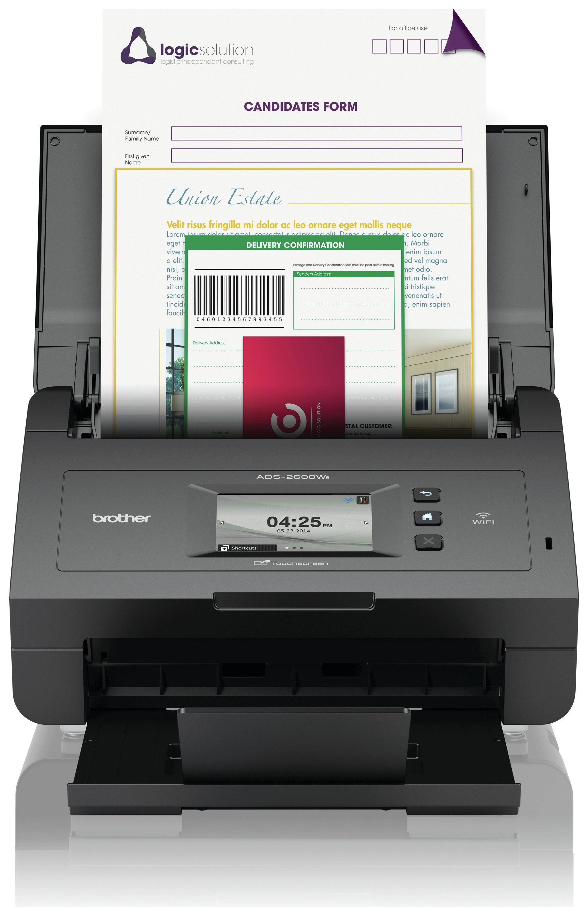 Image of Brother ADS-2600We Desktop Office Scanner