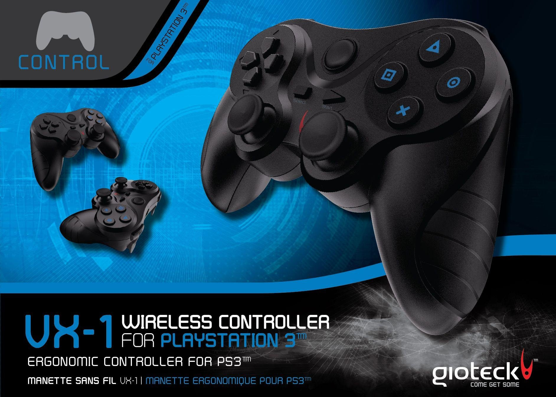 Image of Gioteck - PS3 - VX-1 Wired Controller - Black.
