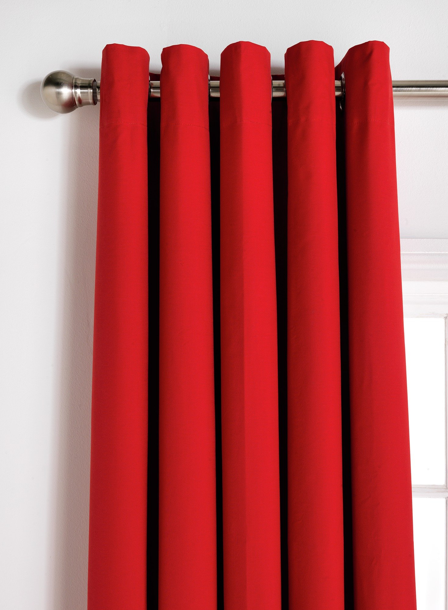 ColourMatch Blackout Curtains - 117x183cm - Poppy Red