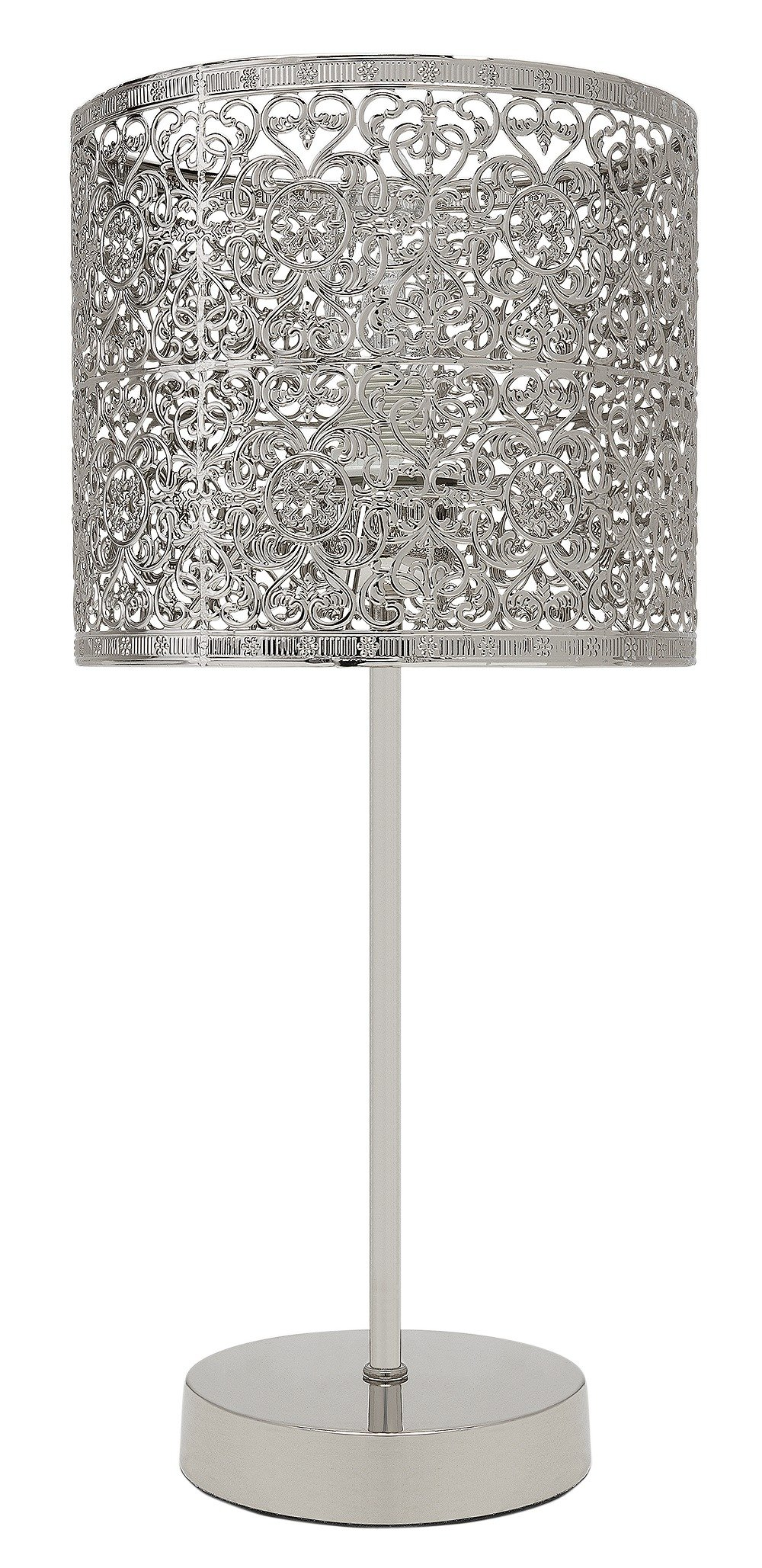 Image of Collection - Firenze Fretwork - Table Lamp - Nickel