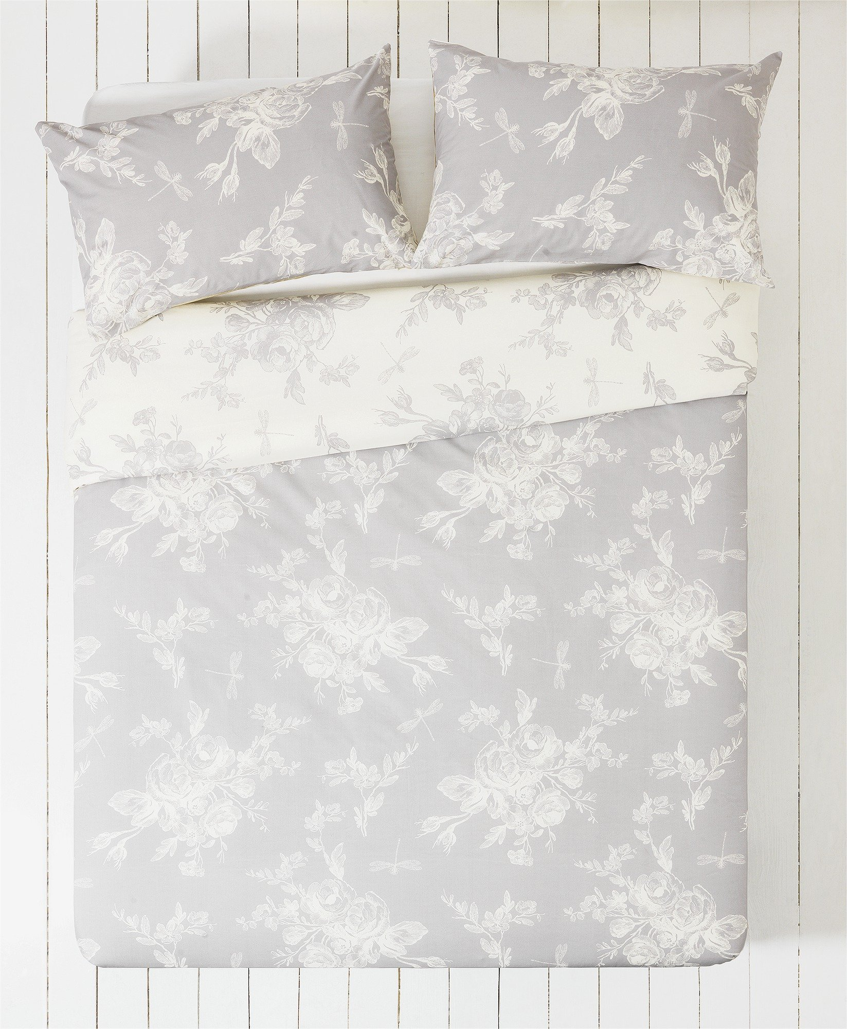 collection  lottie grey and white  bedding set  double