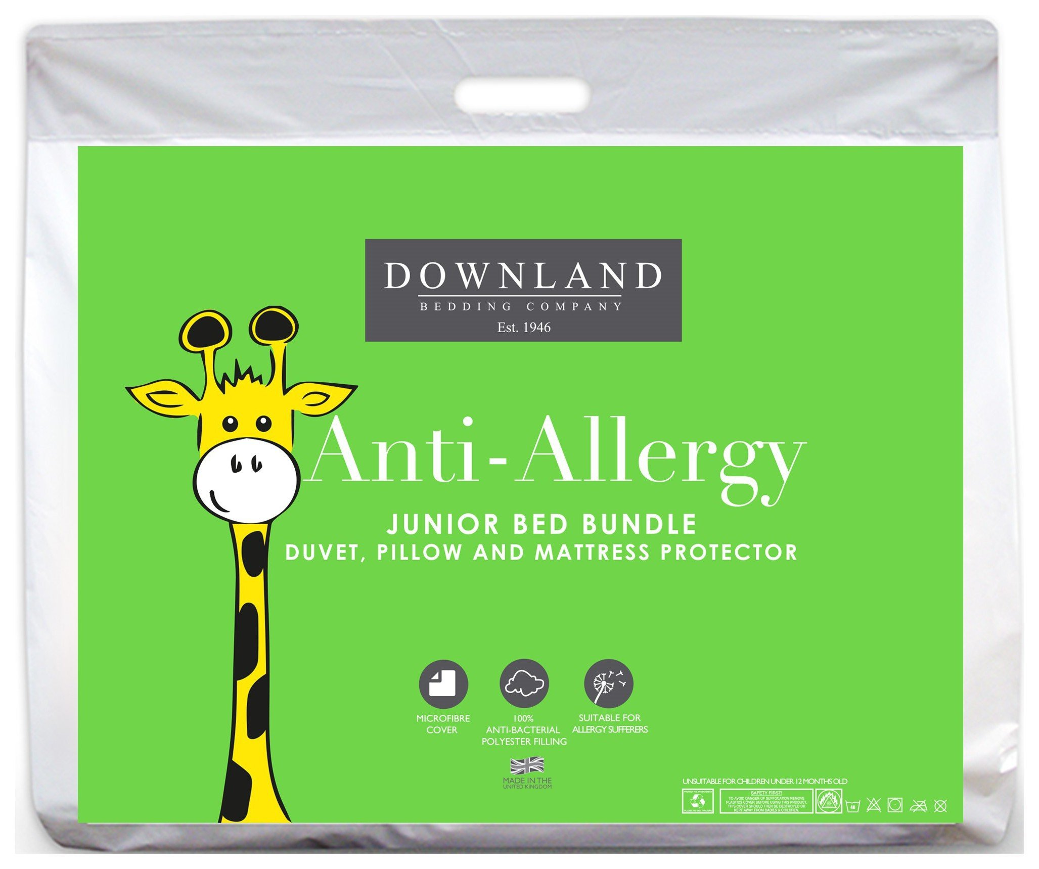 Downland Toddler Microfibre Anti-Allergy Bedding Bundle