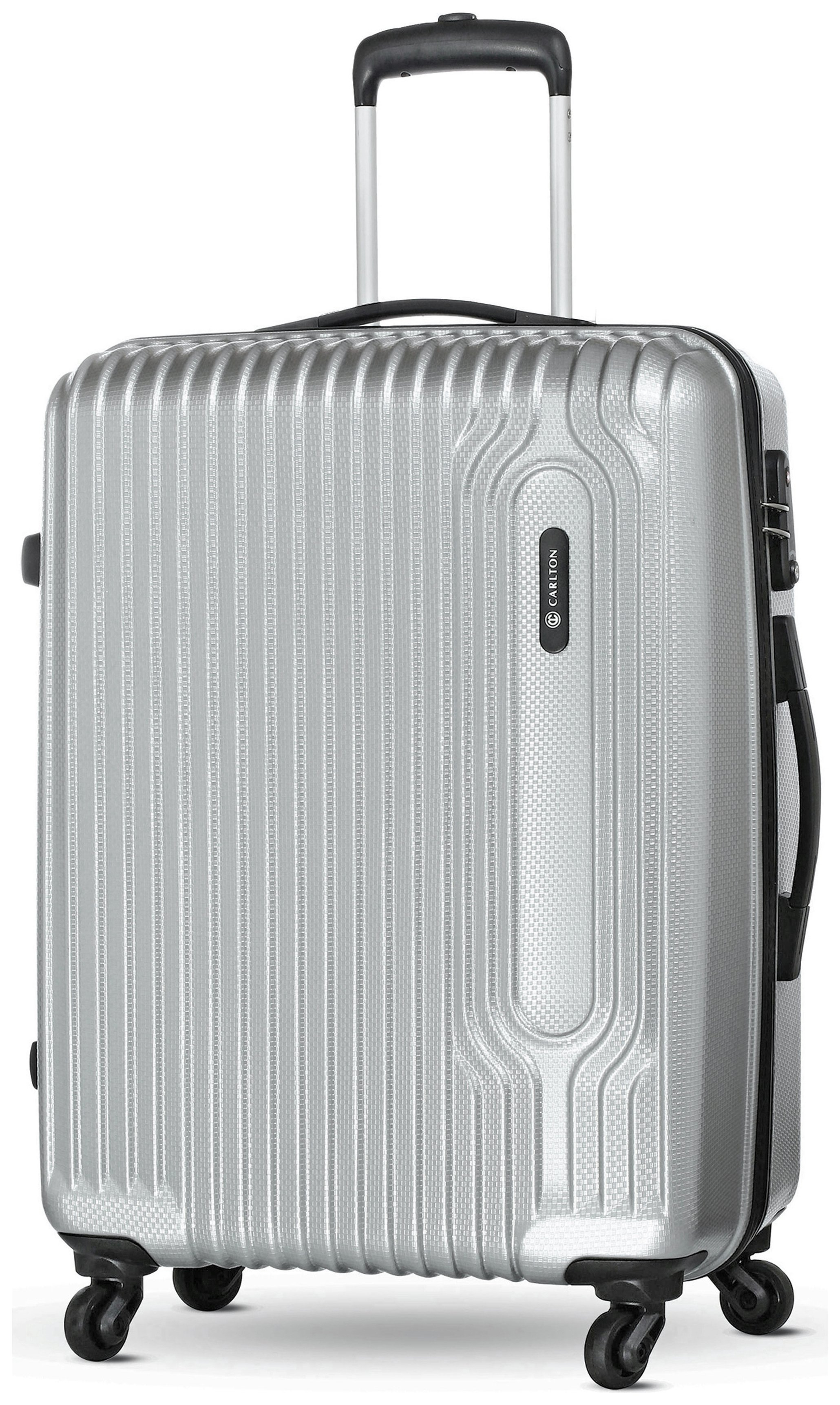 Image of Carlton - Tube Medium 4 Wheel Hard Suitcase - Silver