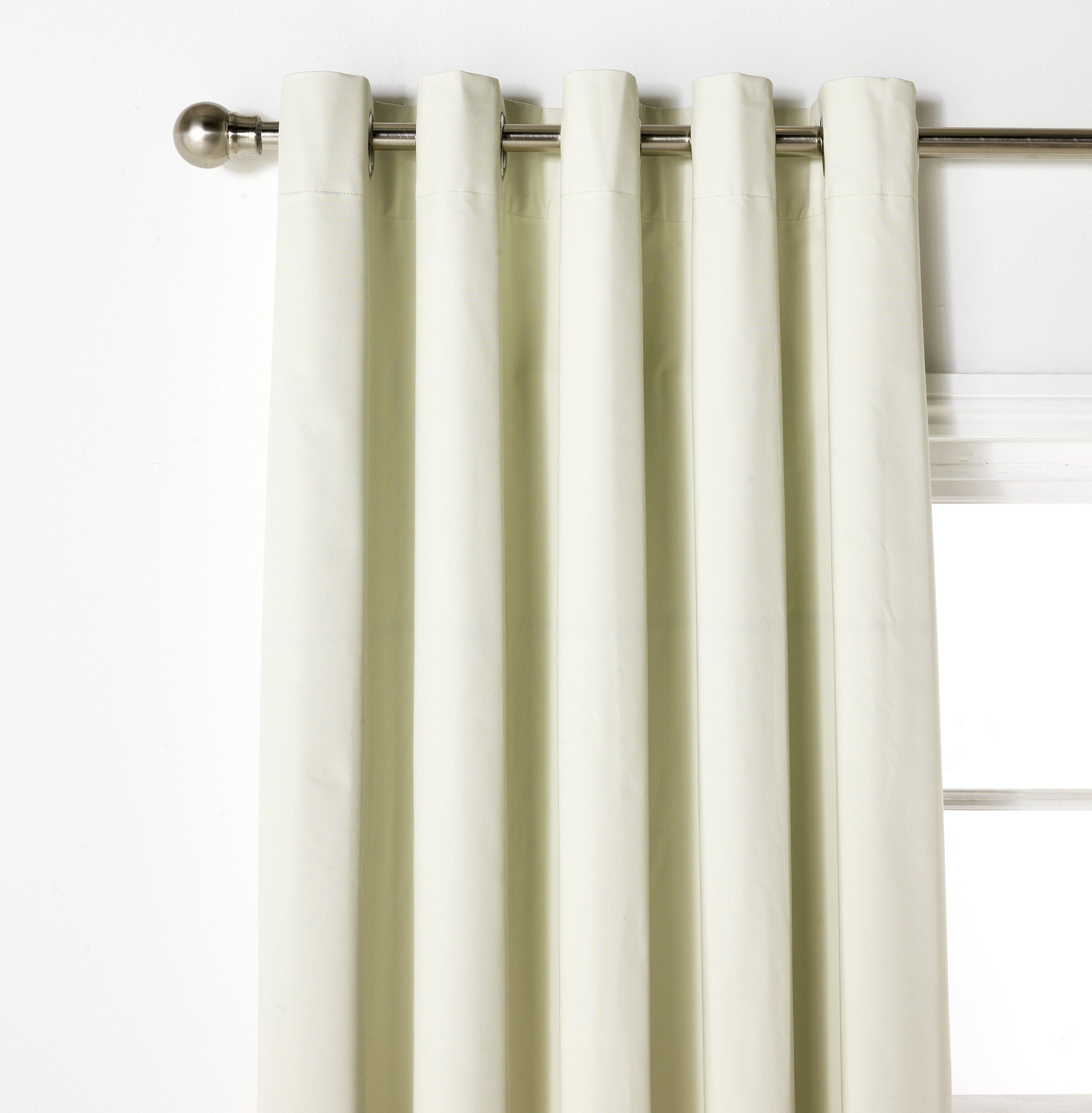 Image of ColourMatch Blackout Curtains - 229x229cm - Cotton Cream