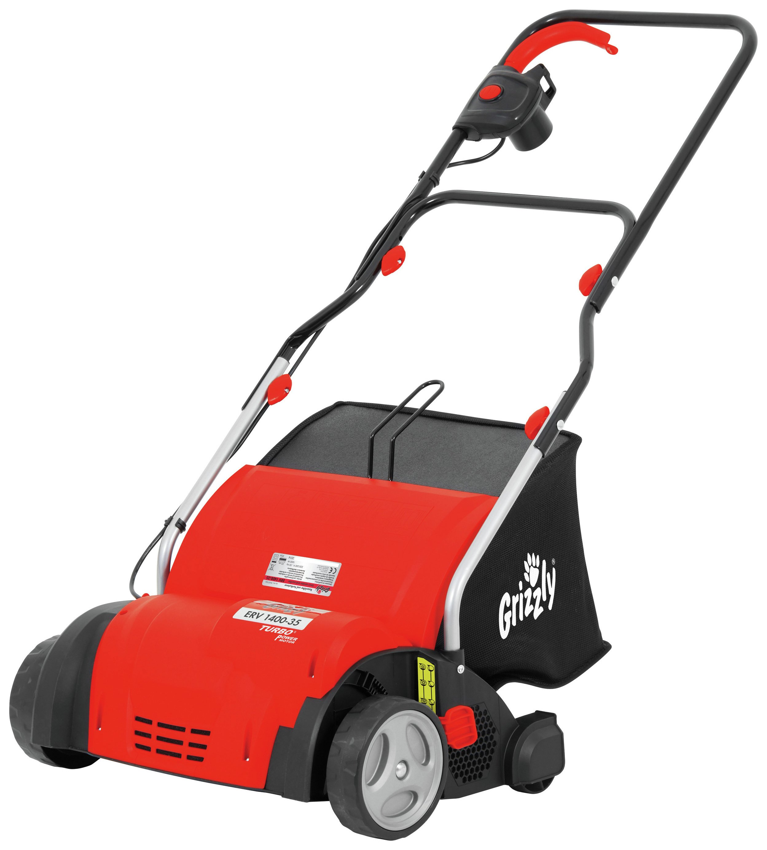 Image of Grizzly Tools 1400W Corded Lawn Scarifier and Aerate.
