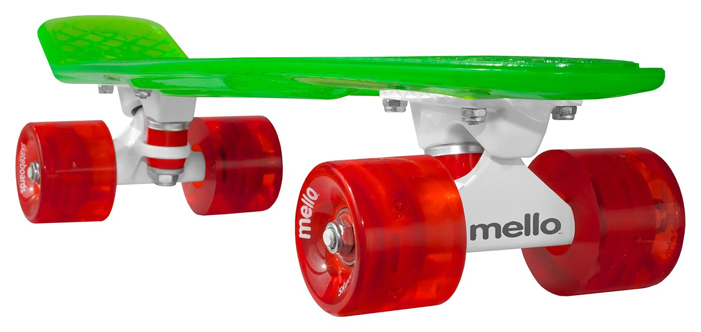 Mello LED 22 Inch Cruiser Skateboard - Watermelon.