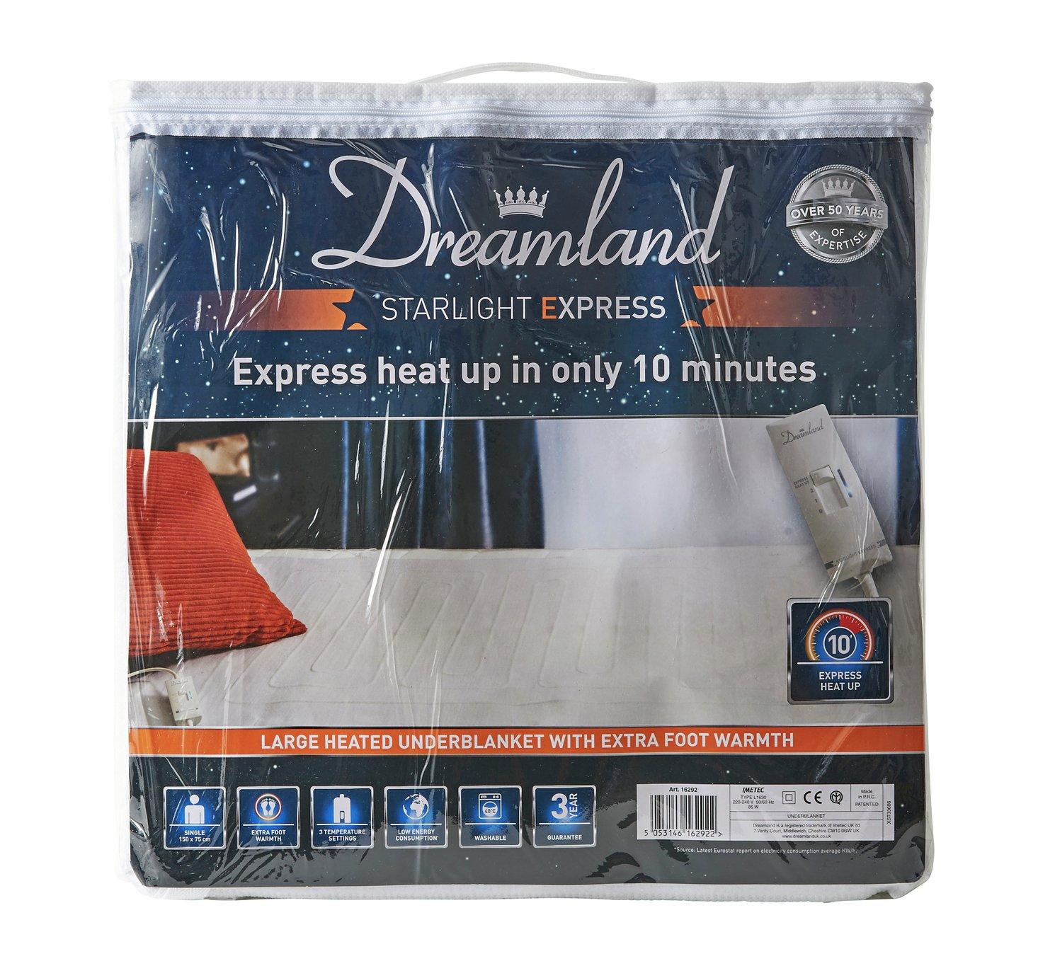 Dreamland Starlight Express Heated Underblanket - Single
