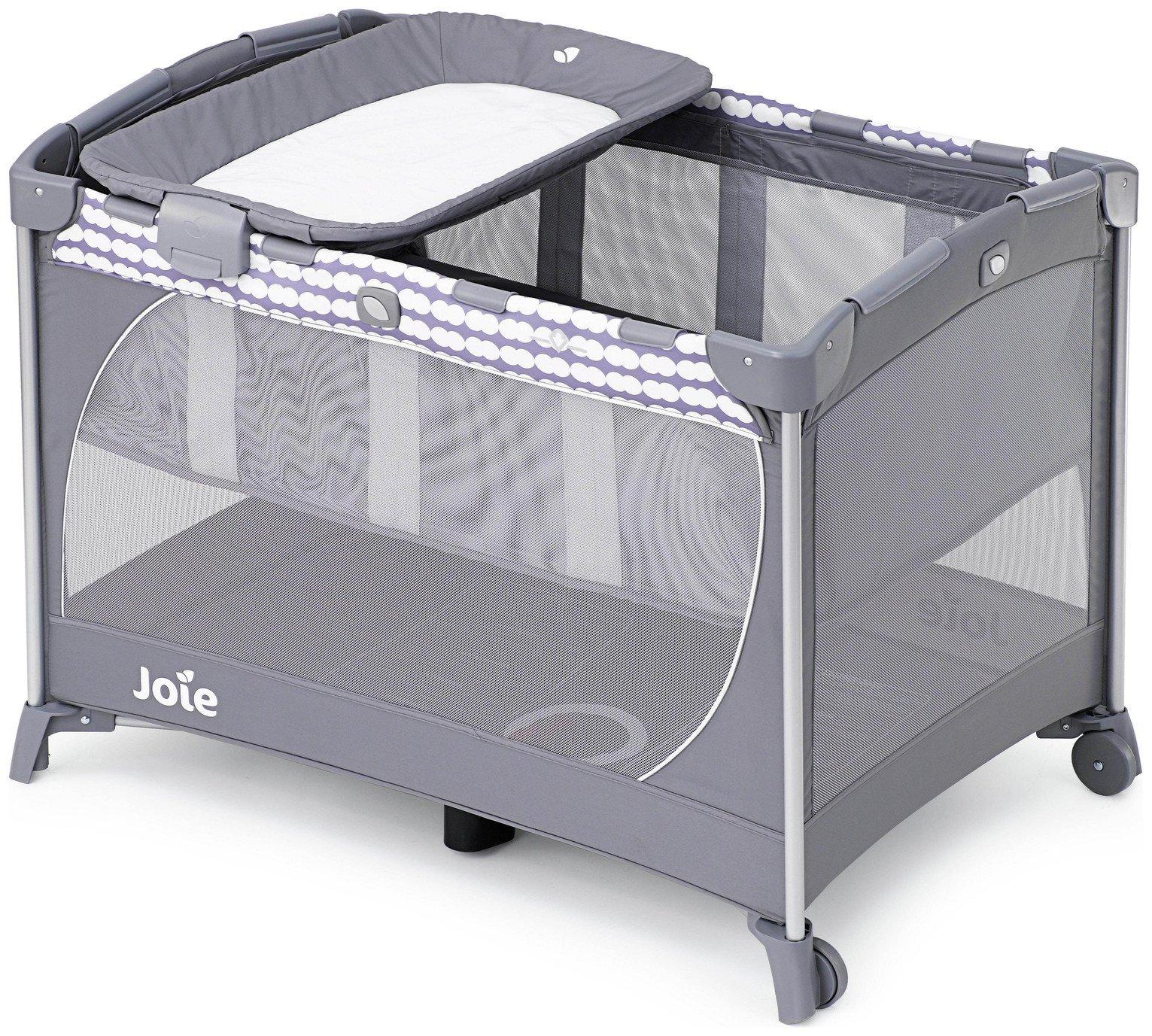 Image of Joie Commuter Change Travel Cot - Cloud