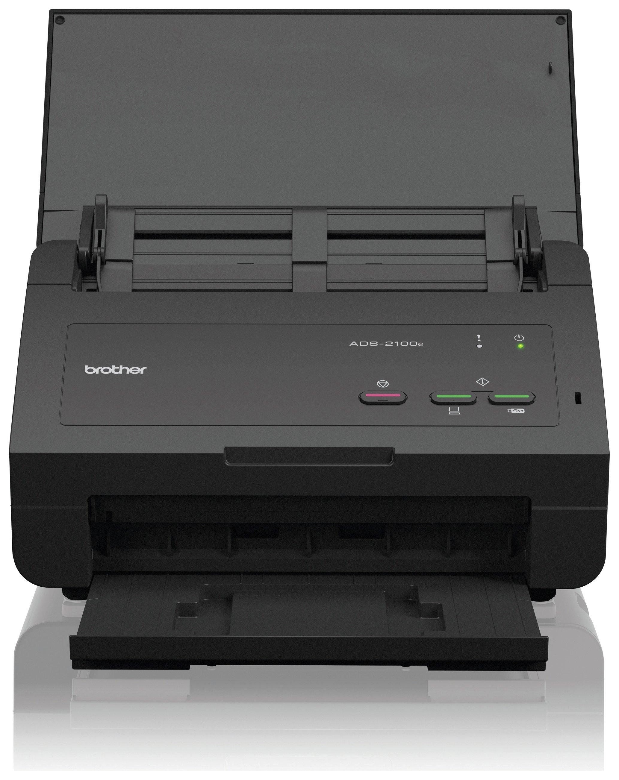 Image of Brother ADS-2100e Desktop Office Scanner
