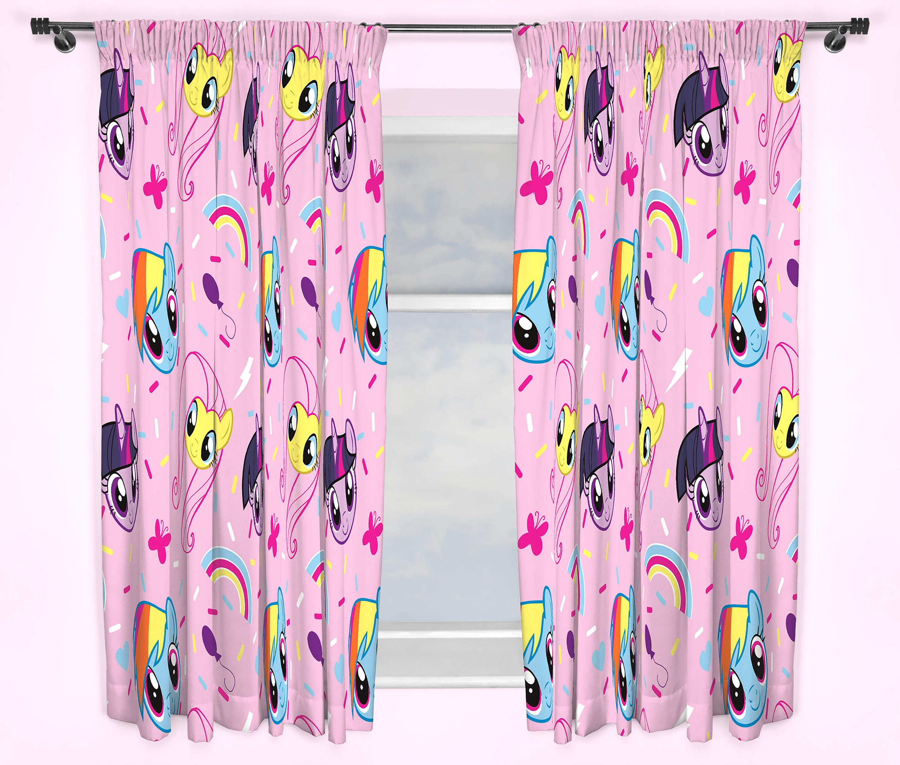 My Little Pony Unlined Pencil Pleat Curtains 168x137cm : 5219119RZ001A from furniturecompare.uk size 2939 x 2500 jpeg 843kB