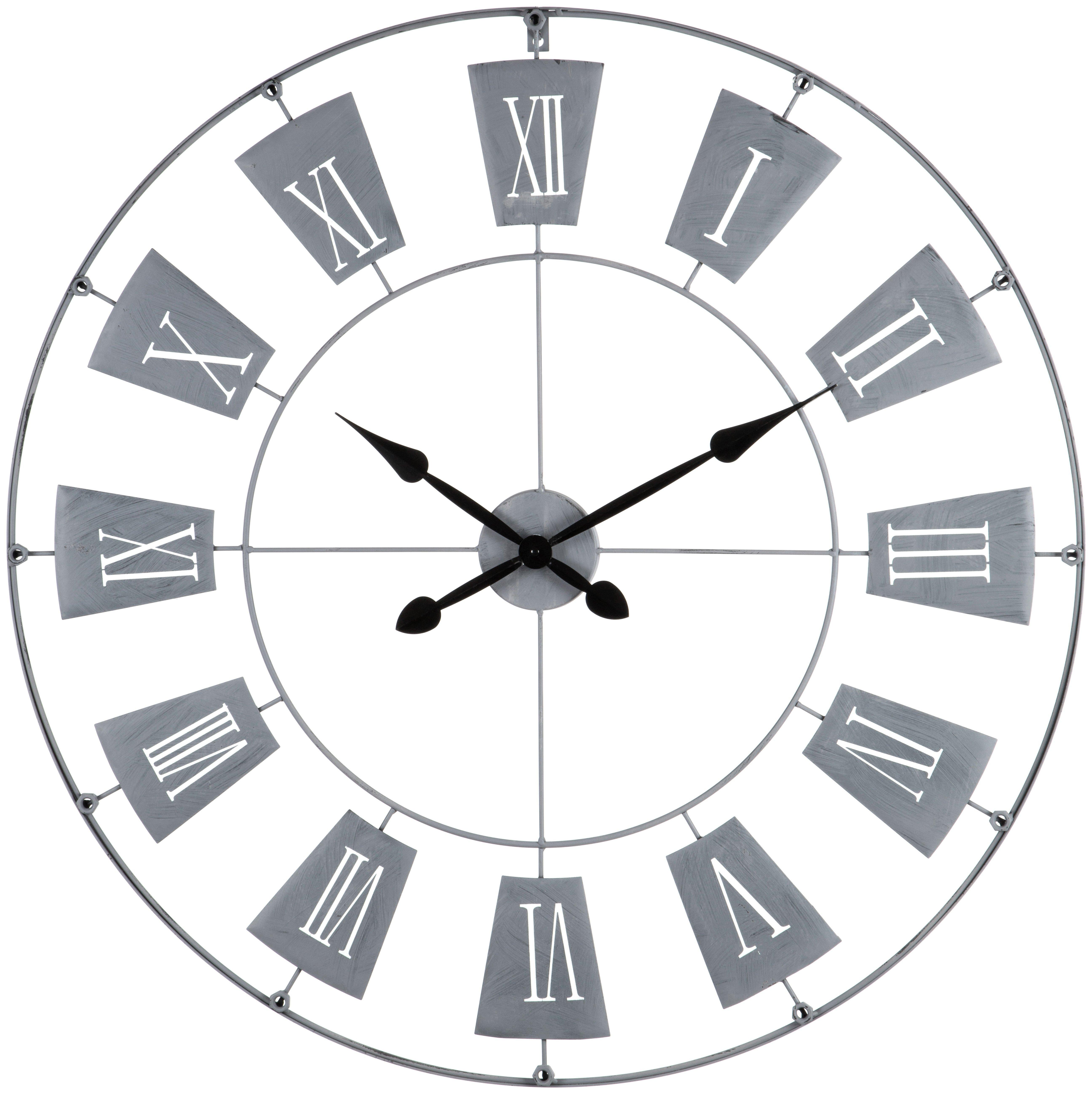 Buy Premier Housewares Contemporary Wall Clock - Grey At Argos.Co