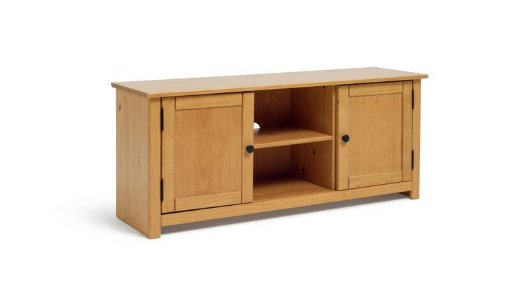Argos Home Porto Solid Wood TV Unit - Pine