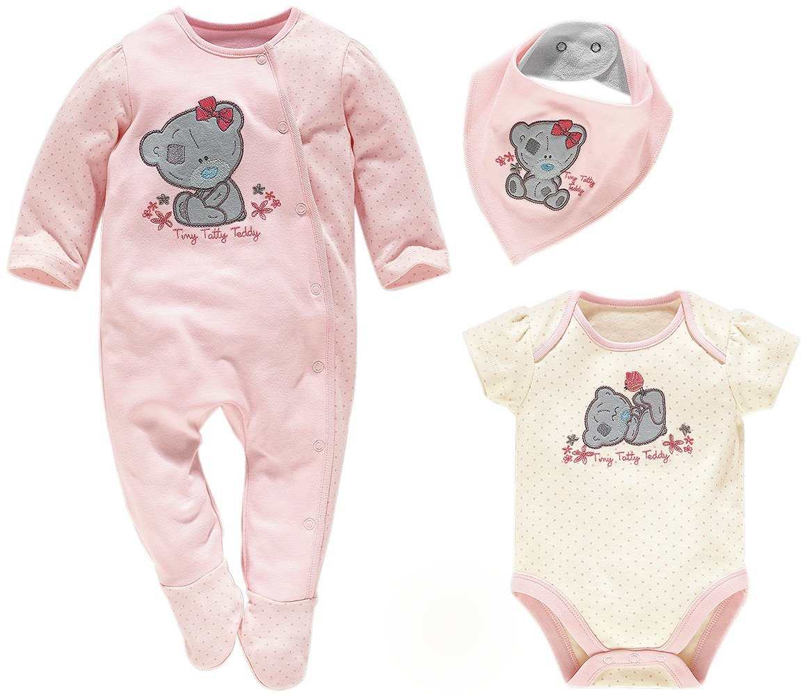 Image of Tiny Tatty Teddy - Pink - Gift Set - 0-3 Months