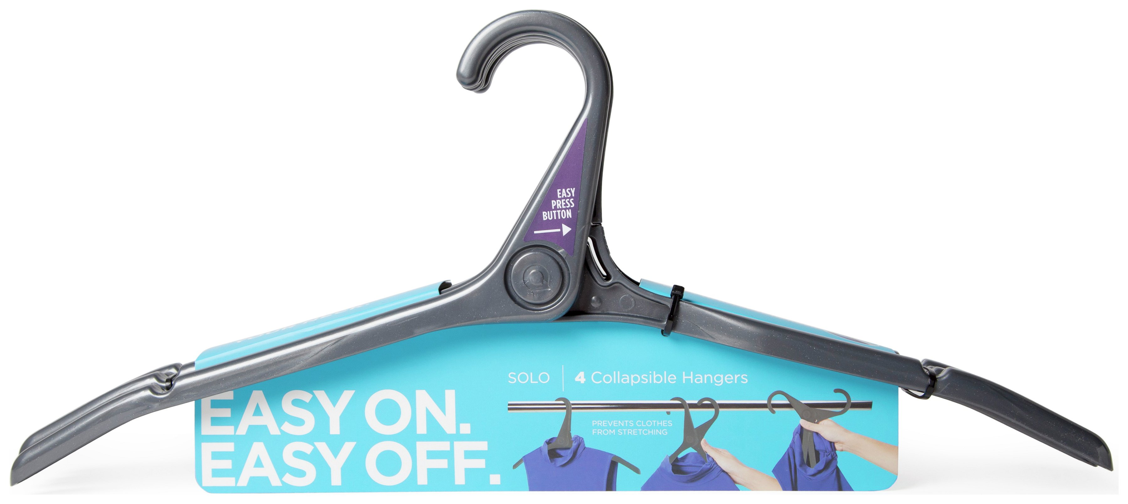 Quirky Solo Set of 12 Clothes Hangers