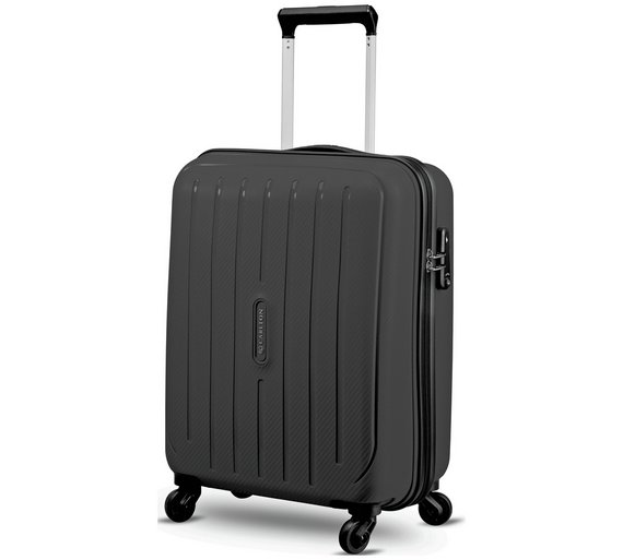 Buy Carlton Pheonix Small 4 Wheel Hard Suitcase - Black at Argos ...