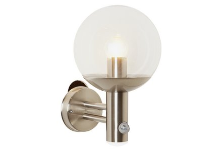 Image of the Stainless Steel PIR Glass Globe Lantern.
