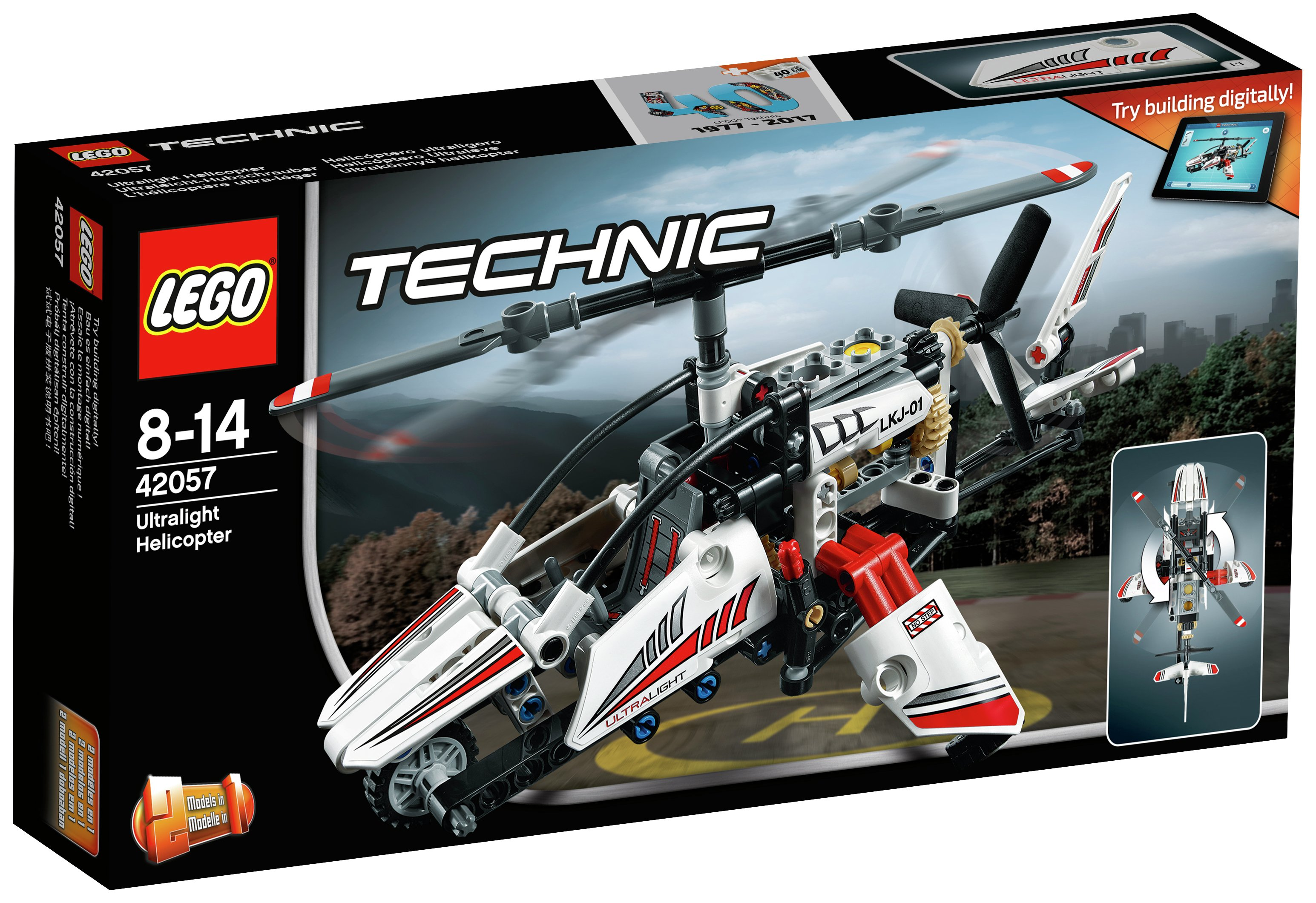 lego technic ultralight helicopter  42057.