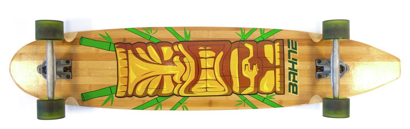 Image of Bahne Bamboo Tiki 44 Inch Longboard Skateboard.