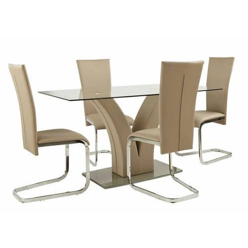 Buy Argos Home Oriana Glass Table Amp 4 Cantilever Chairs