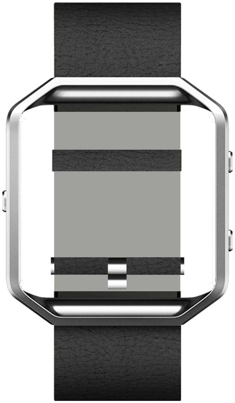 Fitbit Fitbit - Blaze Black Leather Accessory Band - Small