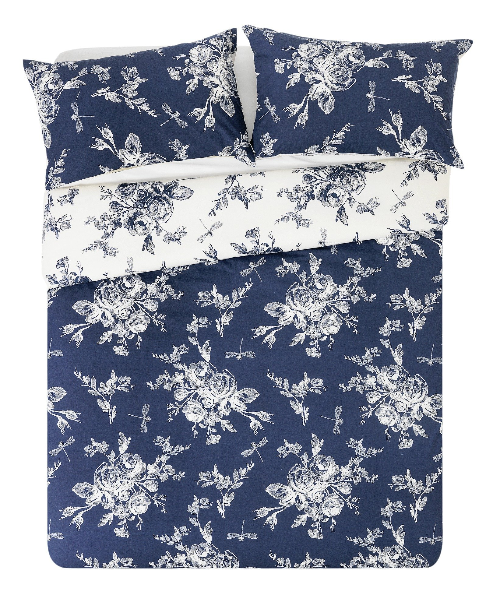 collection  lottie blue and cream  bedding set  double