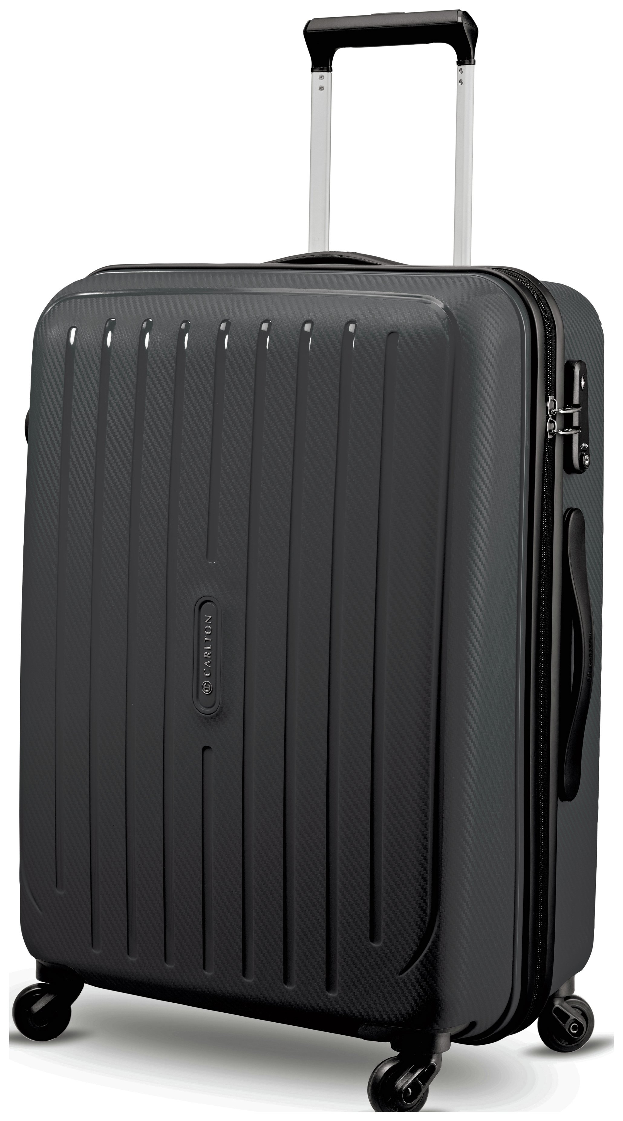 Buy Carlton Pheonix Large 4 Wheel Hard Suitcase - Black at Argos ...
