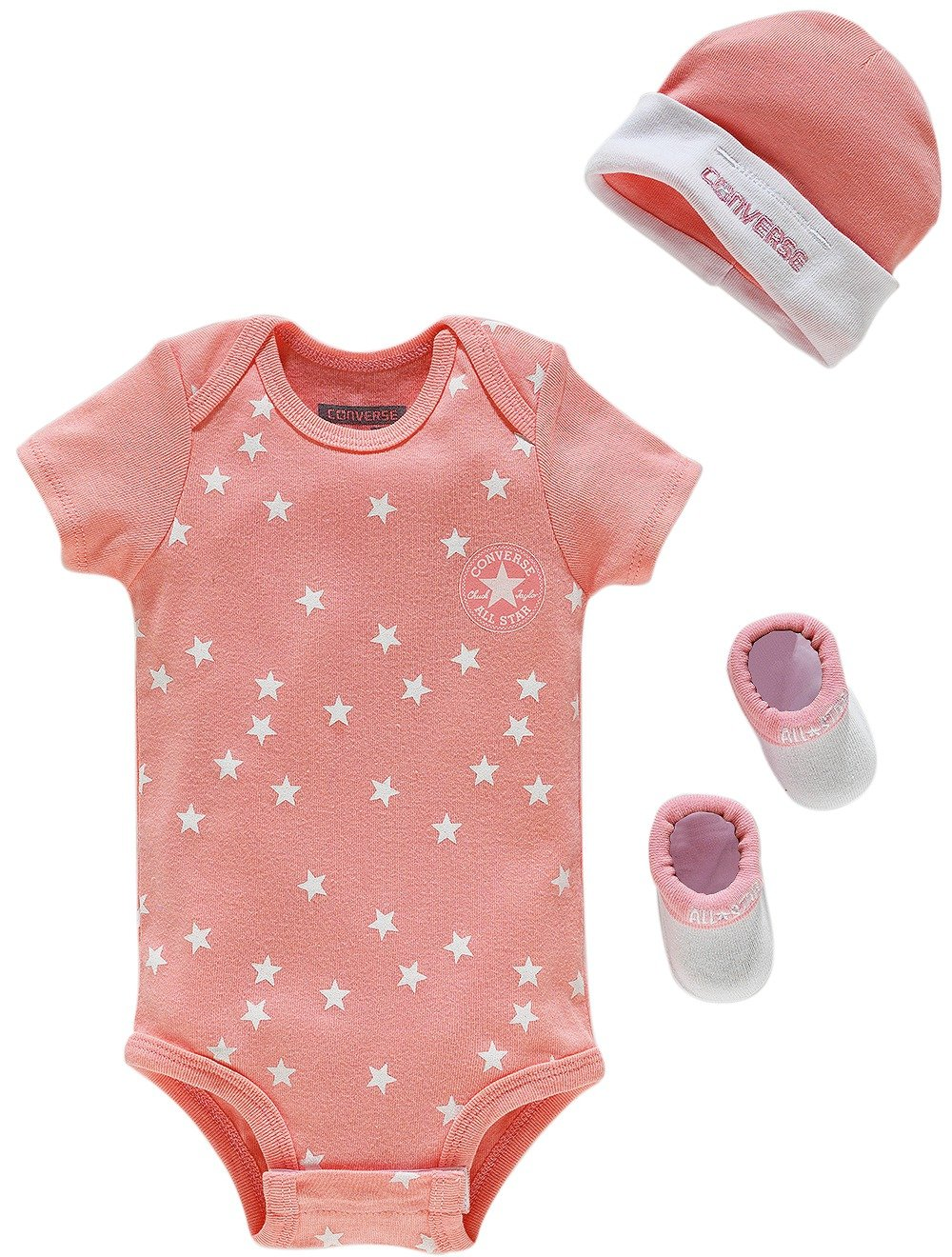 Image of Converse - Daybreak Pink Fashion Print - Gift Set - 0-6 Months