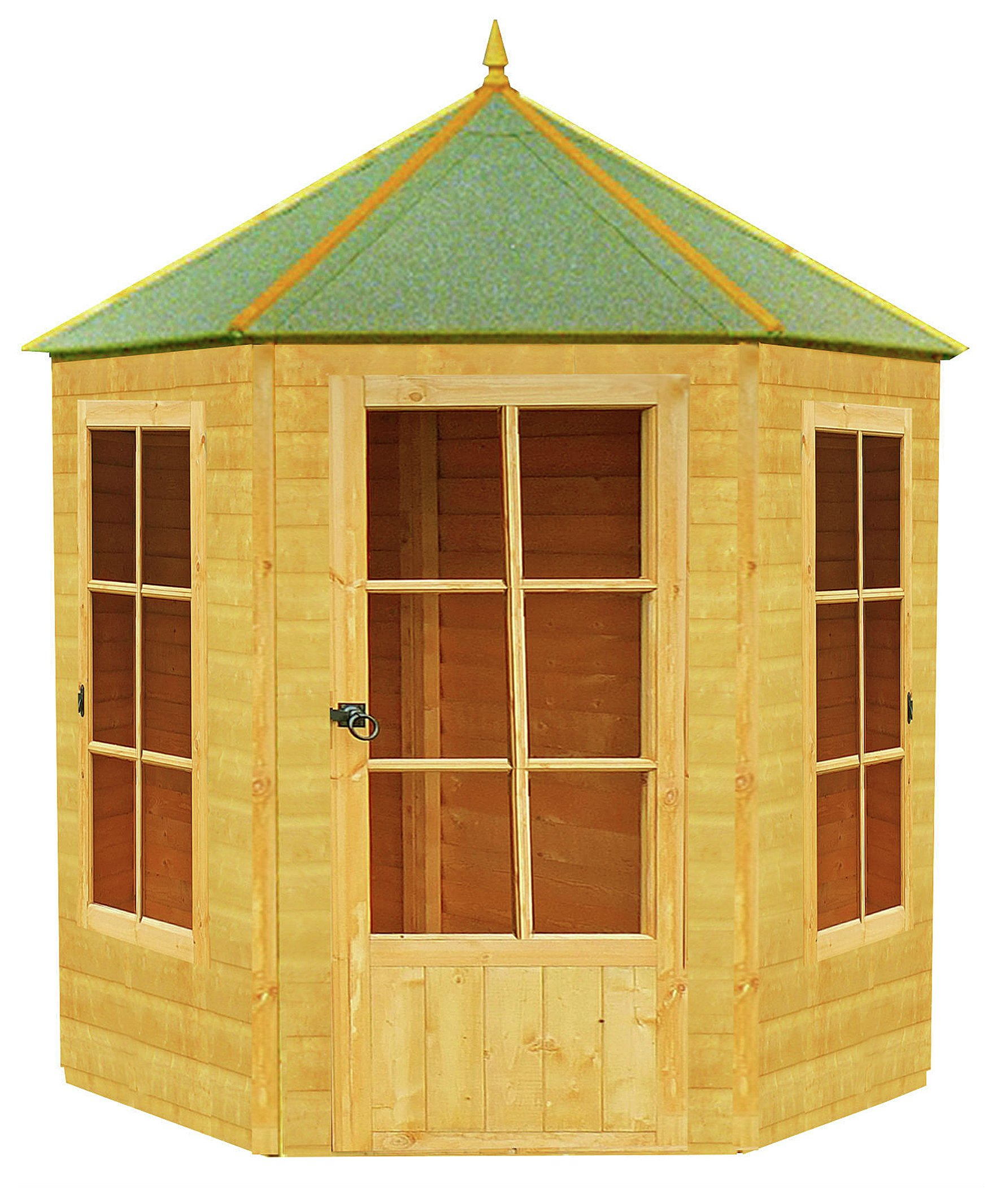 homewood gazebo octagonal summerhouse 6x7ft. Black Bedroom Furniture Sets. Home Design Ideas