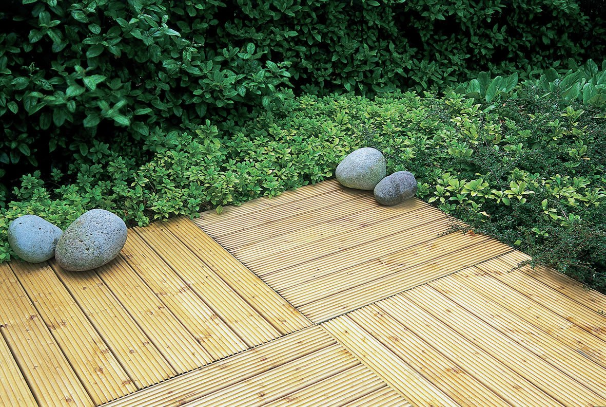 Forest Decking Tiles 60 x 60 cm - Pack of 4. lowest price