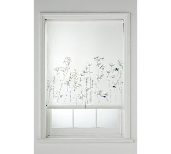 buy collection watercolour meadow roller blind 4ft at. Black Bedroom Furniture Sets. Home Design Ideas