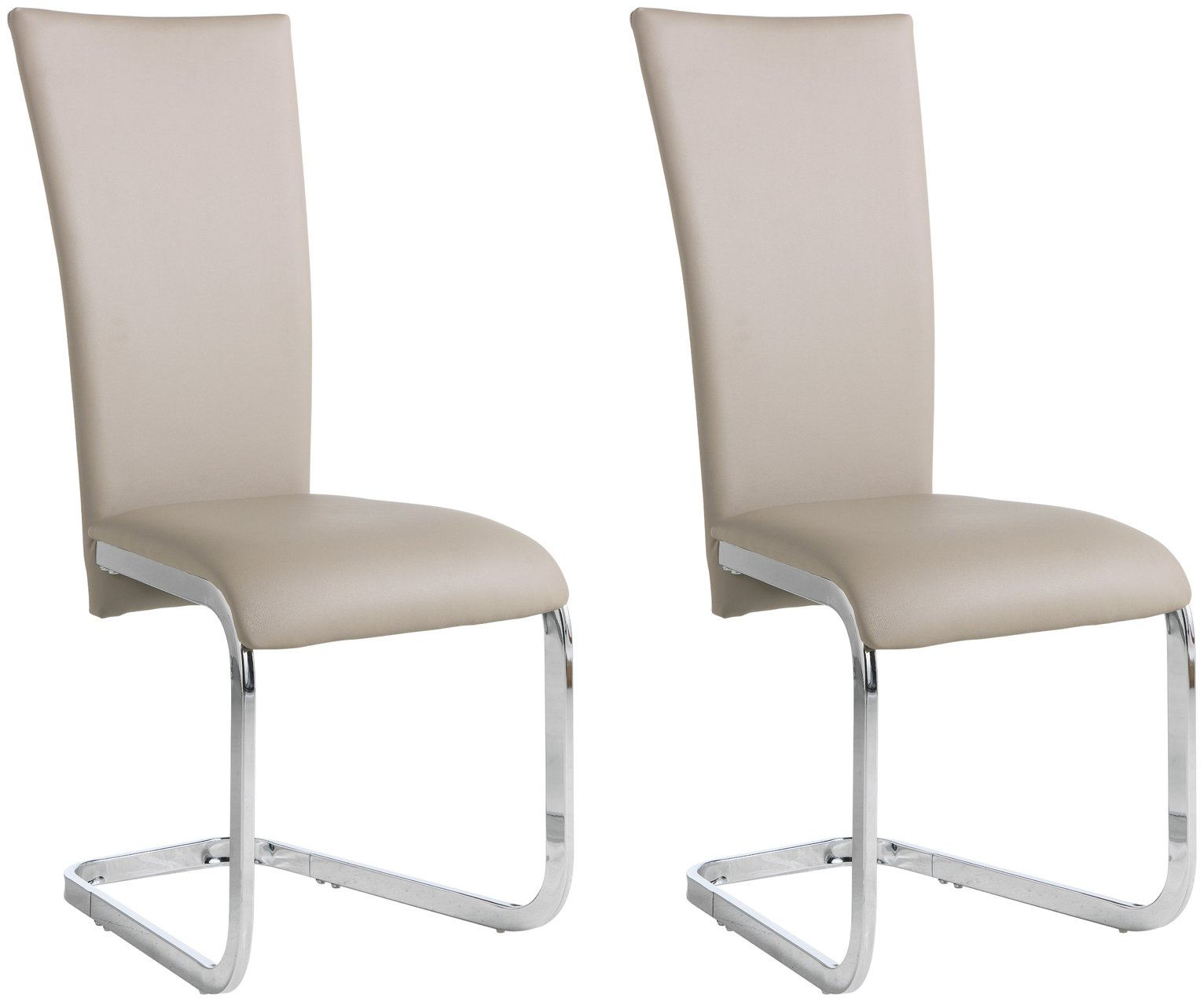Image of Collection Oriana Pair of Cantilever Chairs - Nude