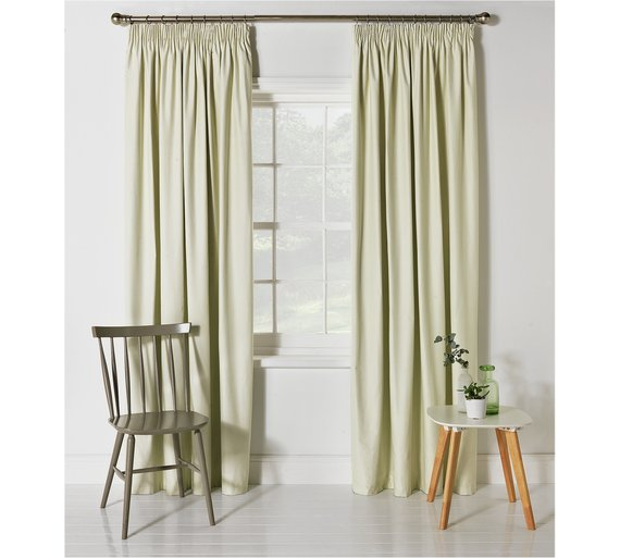 Buy HOME Blackout Thermal Curtains-168x183cm-Cotton Cream at Argos ...