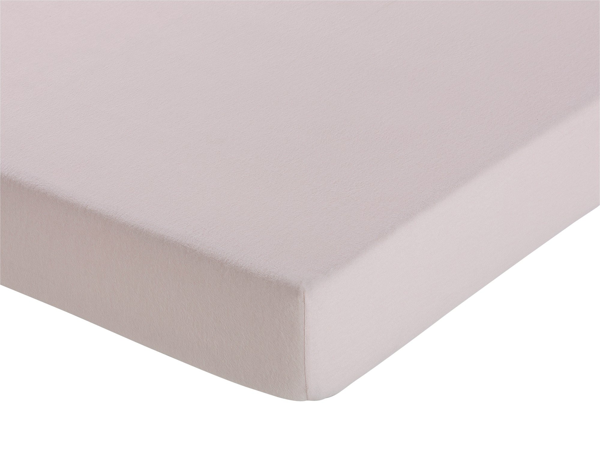 Collection - Pink Brushed Cotton Fitted - Sheet - Double