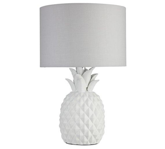 Buy heart of house algard pineapple table lamp white table lamps heart of house algard pineapple table lamp white aloadofball Images