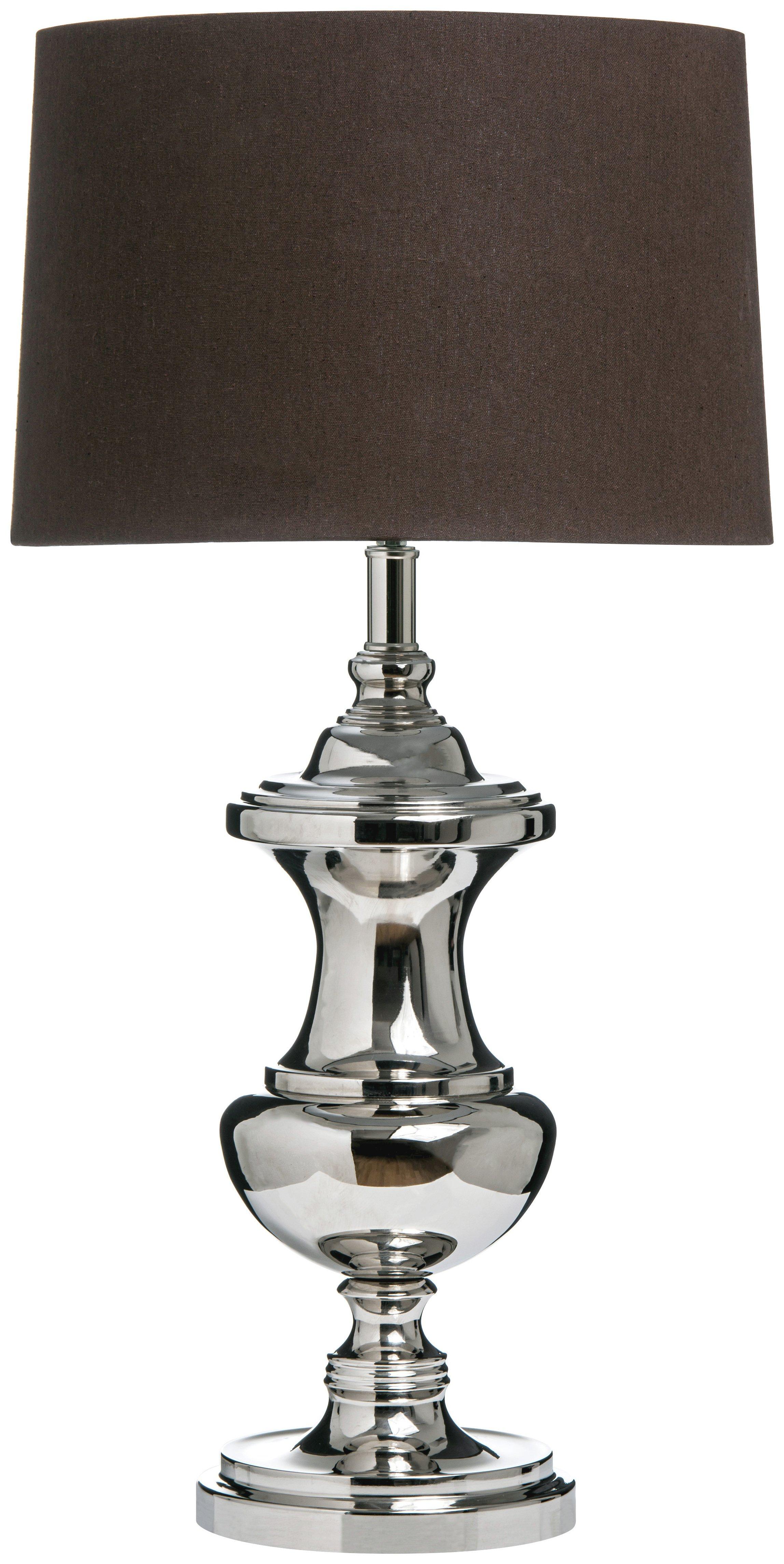 Image of Premier Housewares Ara Table Lamp - Black and Silver.
