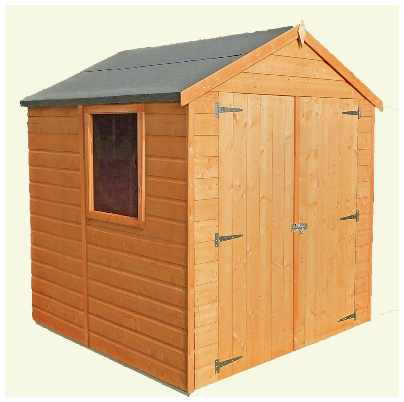 Homewood Arran Shiplap Wooden Double Door Shed - 6 x 6ft